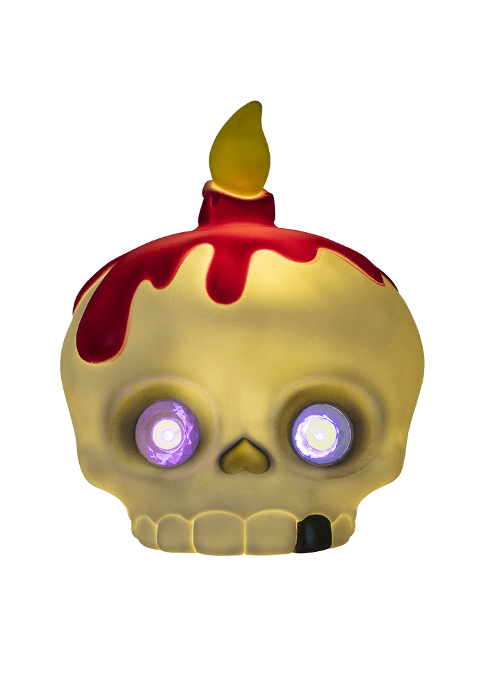 Mama Skully Led Lamp light on