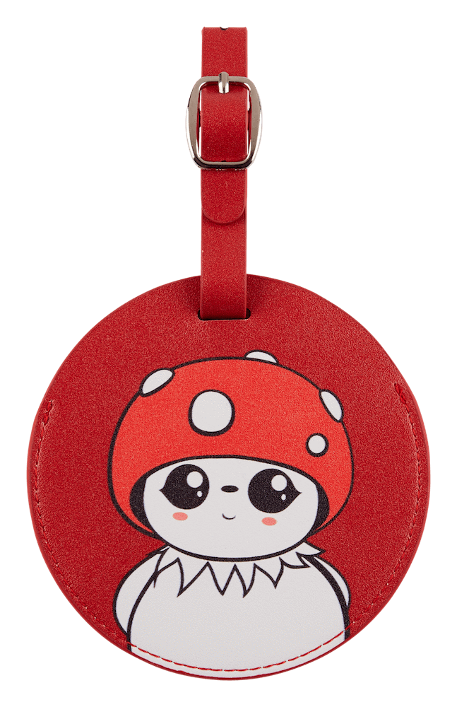Bubble luggage tag front