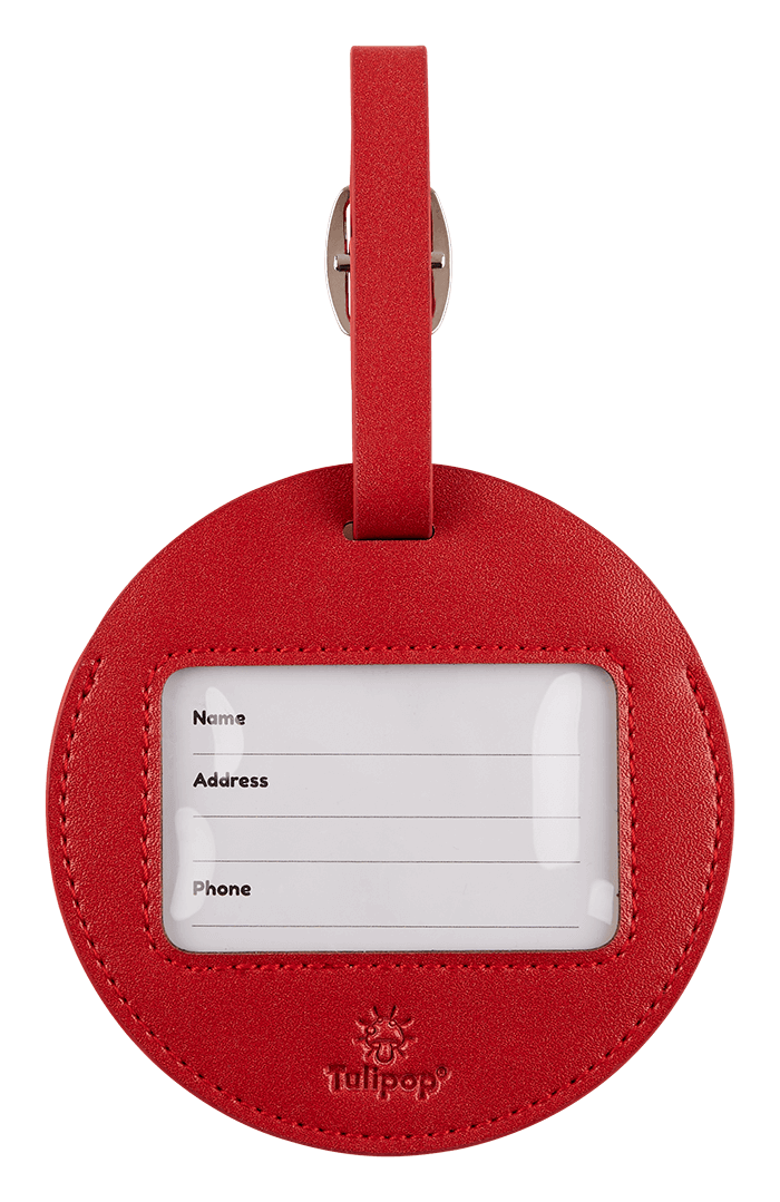 Bubble Luggage tag back