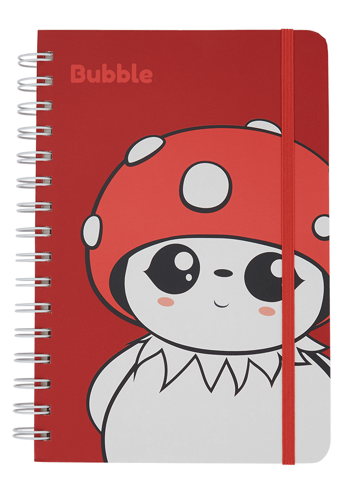 Bubble notebook front