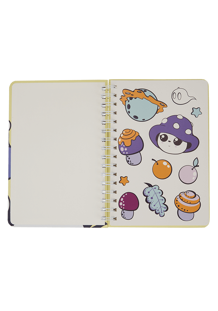 Gloomy Notebook inside