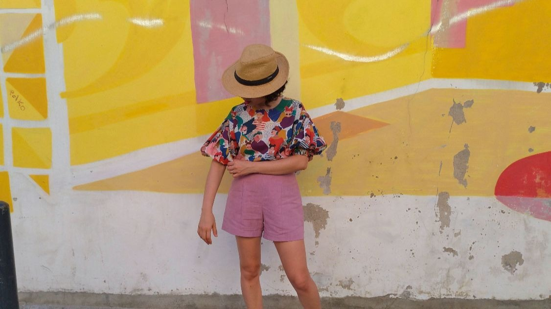 MY PRINTED COLOGNE BLOUSE & PIETRA SHORTS