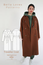 Load image into Gallery viewer, TRAVELLER COAT – PDF SEWING PATTERN - Bella loves patterns