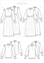 Load image into Gallery viewer, VITA DRESS & BLOUSE - PDF SEWING PATTERN - Bella loves patterns