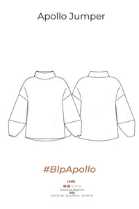 APOLLO JUMPER – PDF SEWING PATTERN - Bella loves patterns