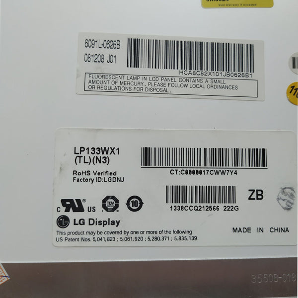 "Grade A+ LP133WX1 (TL)(A1) / N133I1-L01 13.3"" LCD Laptop Matrix SCREEN Panel For Apple A1181"