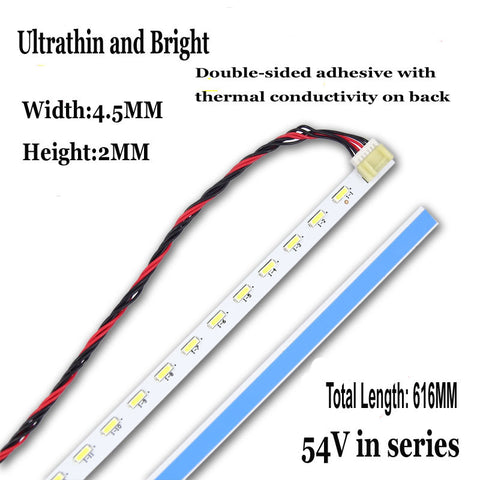 Free Shipping!! 1PC New Original LED Backlight Strip 616MM*7MM For 27inch 28inch LCD Monitor