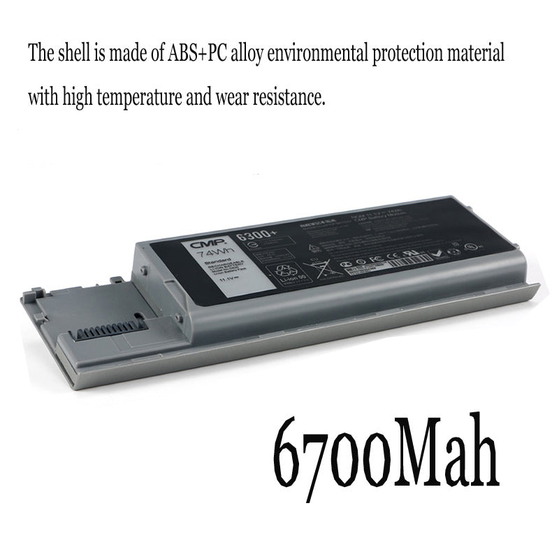 1PC New Laptop Battery Internal For Dell D630 D620 D630C D631 PC764 M2300 JD648 KD492 PP18L