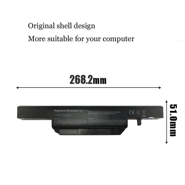 1PC New Laptop Battery Internal For Hasee K650D K610C K570N W650BAT-6 G150S