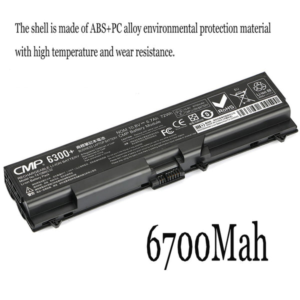 1PC New Laptop Battery Internal For Lenovo ThinkPad L410 L412 L421 L512 W510 W520 E50