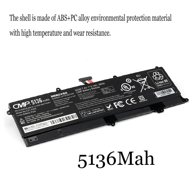 1PC New Laptop Battery Internal For ASUS C21-X202 S200E X202E X201E S200L