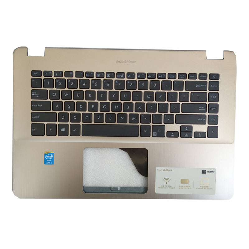 Free Shipping!! 1PC 90%New Laptop Palmrest Housing C With Keyboard For Asus X505 X505B K505 K505B