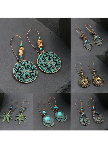 (6 Pcs Set)6 Pcs in One Boho Vintage Elegant Earrings