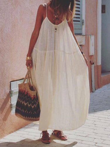 Large size loose bohemian dress