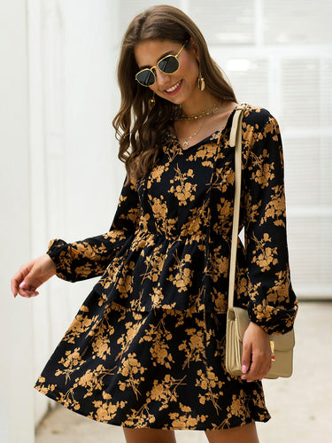 Black Casual Crew Neck Dresses