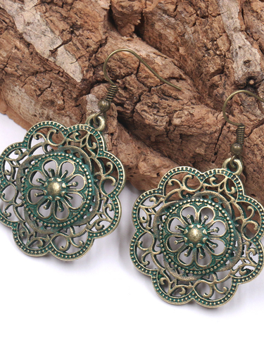 Vintage Boho Alloy Earrings