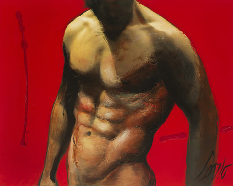 Male Torso on Red 1 - Corno