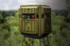 Elevated Hunting Blinds With 10' Galvanized QP Kit Advantage Hunting