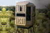 Ground Hunting Blinds Dual Threat Combo With 10' Galvanized QP Kit Advantage Hunting Game Keeper