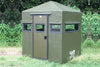 Fiberglass Deer Blind Green Classic 4X6 with Door on 6' Side Dillon Manufacturing