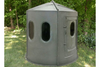 Maverick 6-Shooter Deer Blind in Green with Clear Windows