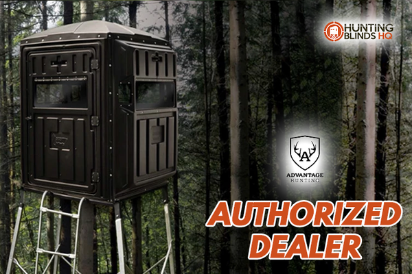 4-Person Ground Blind Whitetail With QP Kit Advantage Hunting