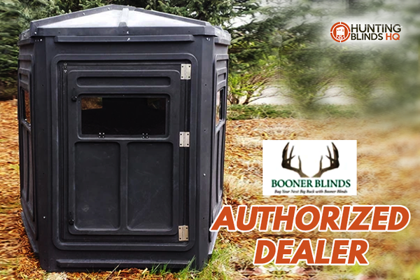 Booner Hunting Blinds with 5-Panel Dagger HW and Tinted Windows