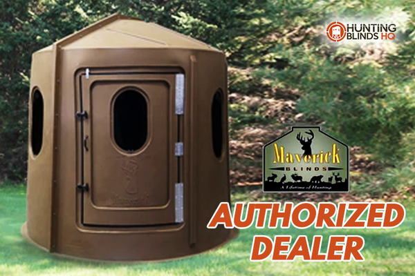 Maverick 6-Shooter Deer Hunting Blind in Brown with Clear Windows