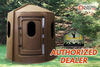 Maverick 5-Shooter Deer Blind in Brown with Clear Windows