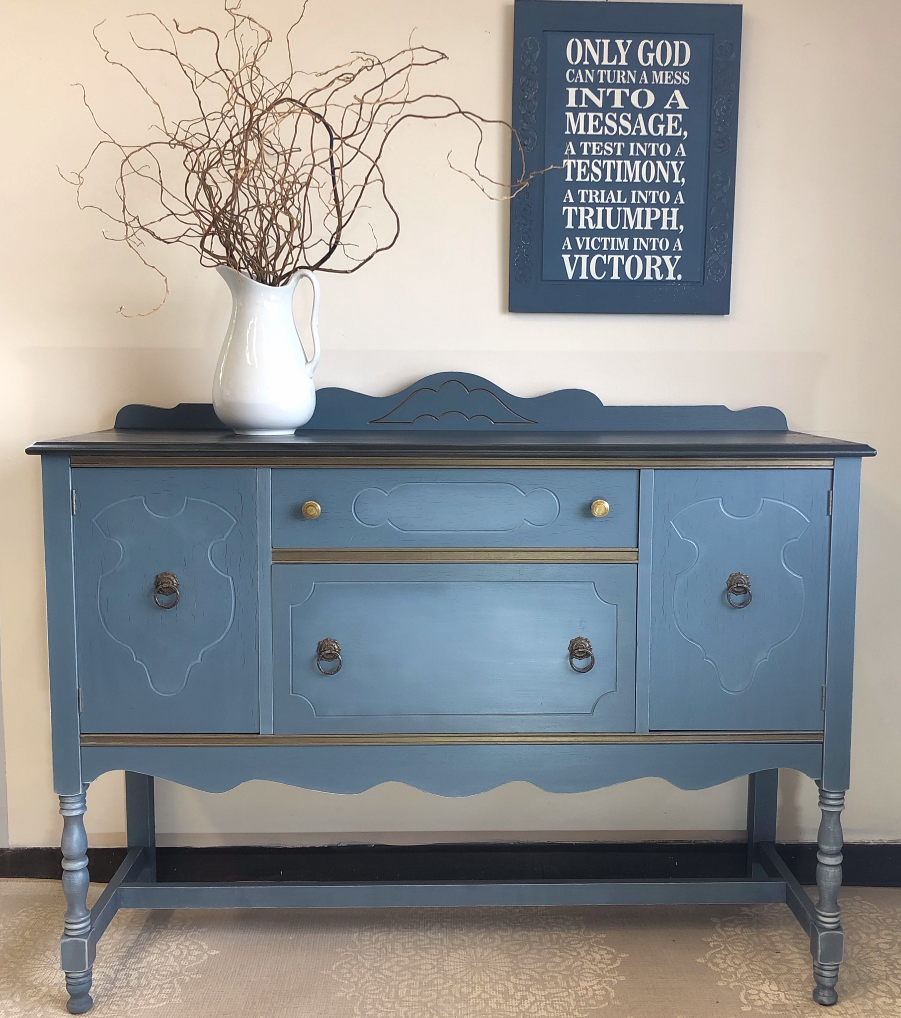 Custom Painted Sideboard