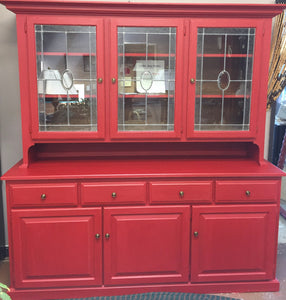 Custom Painted China Cabinet