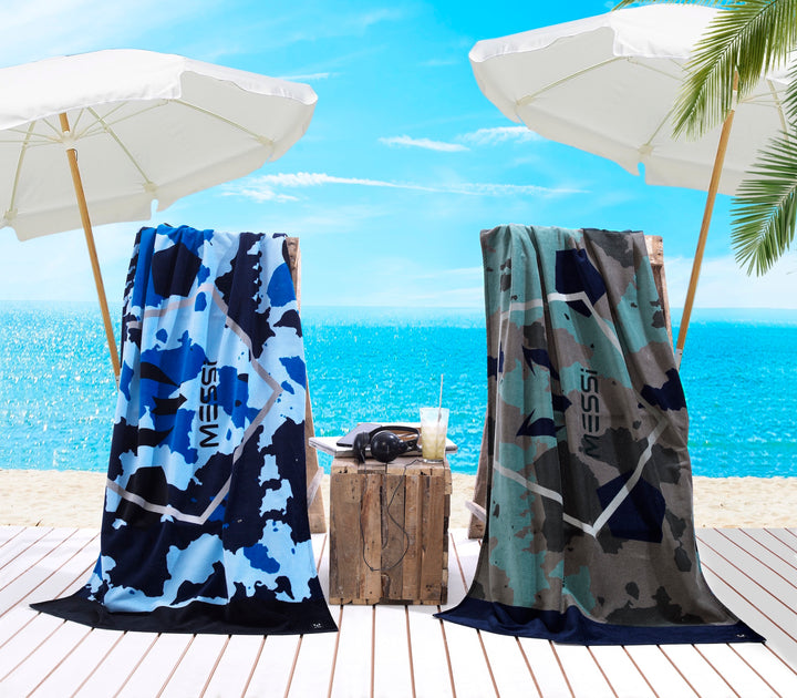 Messi Camo Pentagon Beach Towel