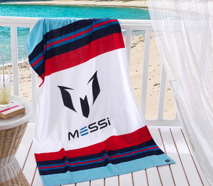 Messi Signature Stripe Beach Towel