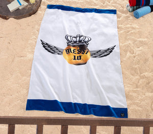 Messi Golden Ball Wing Beach Towel