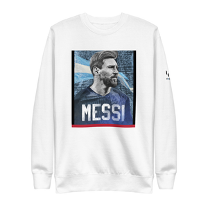 Iconic Messi Portrait Graphic Crewneck Sweatshirt