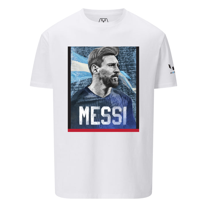 Camiseta Estampada Icónico Retrato de Messi