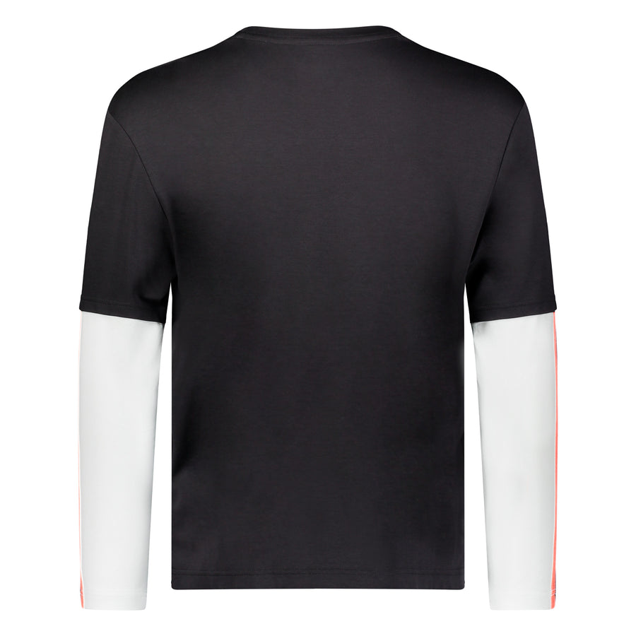 Cut & Sew Long Sleeve Crew - Black & White