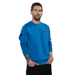 Messi Zip Pocket Sweatshirt - Ocean Blue