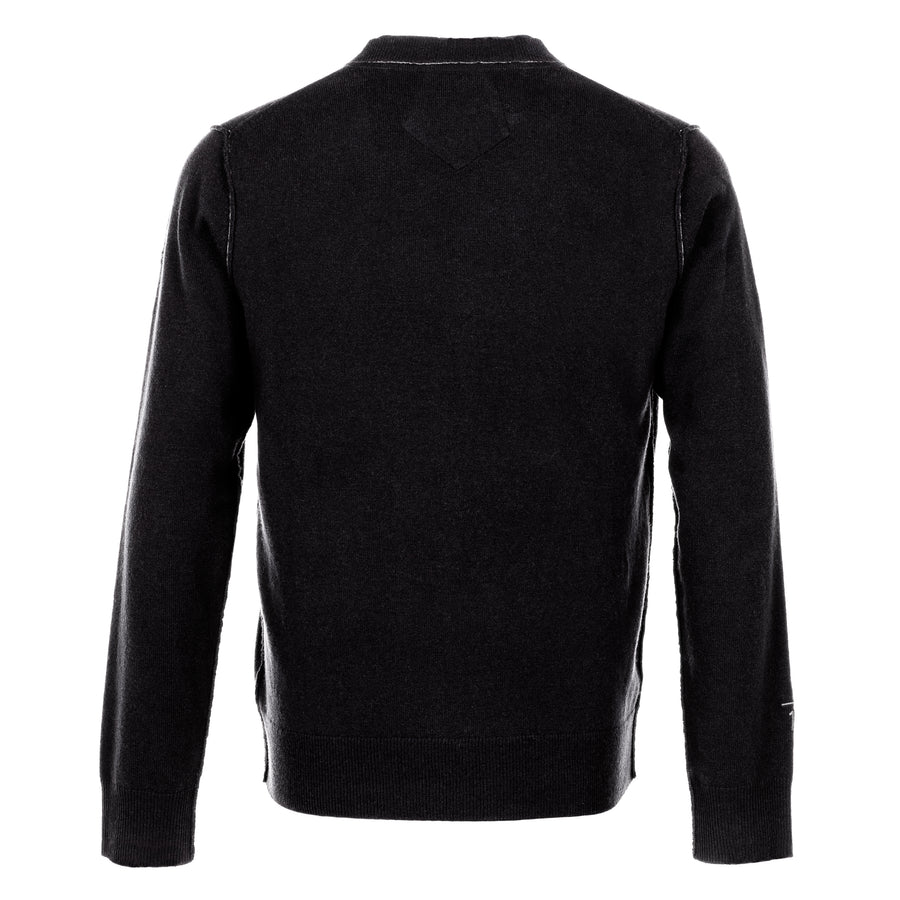 Messi Cashmere Crewneck Sweater - Black