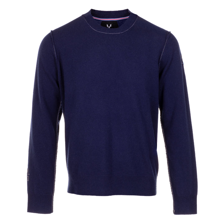 Messi Cashmere Crew Neck Sweater - Navy