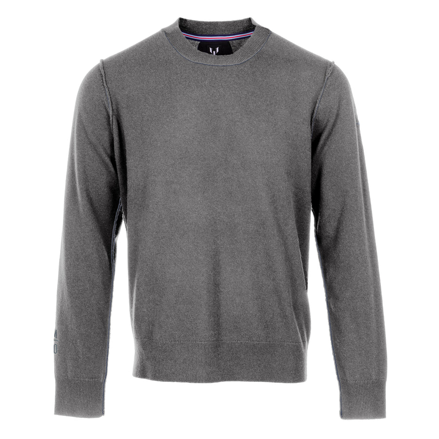 Messi Cashmere Crewneck Sweater - Gray