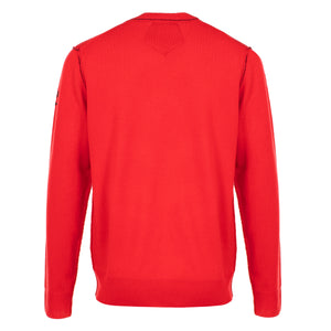 Messi Cashmere Crewneck Sweater - Red