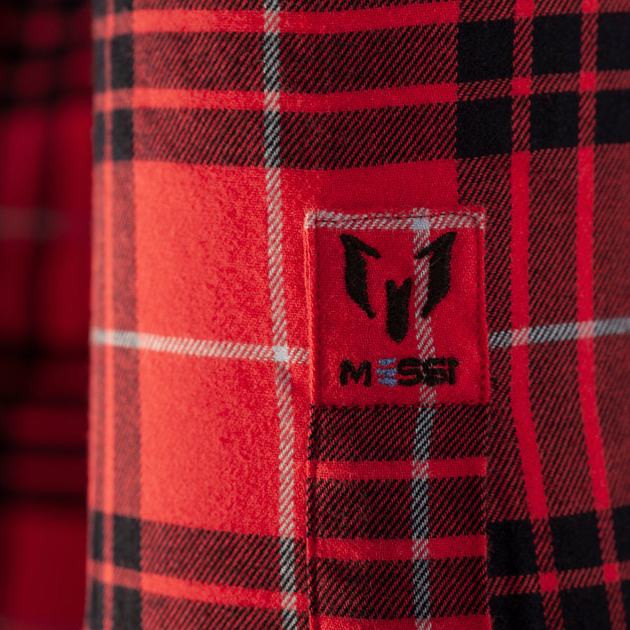 Messi Signature Two Pocket Plaid Shirt