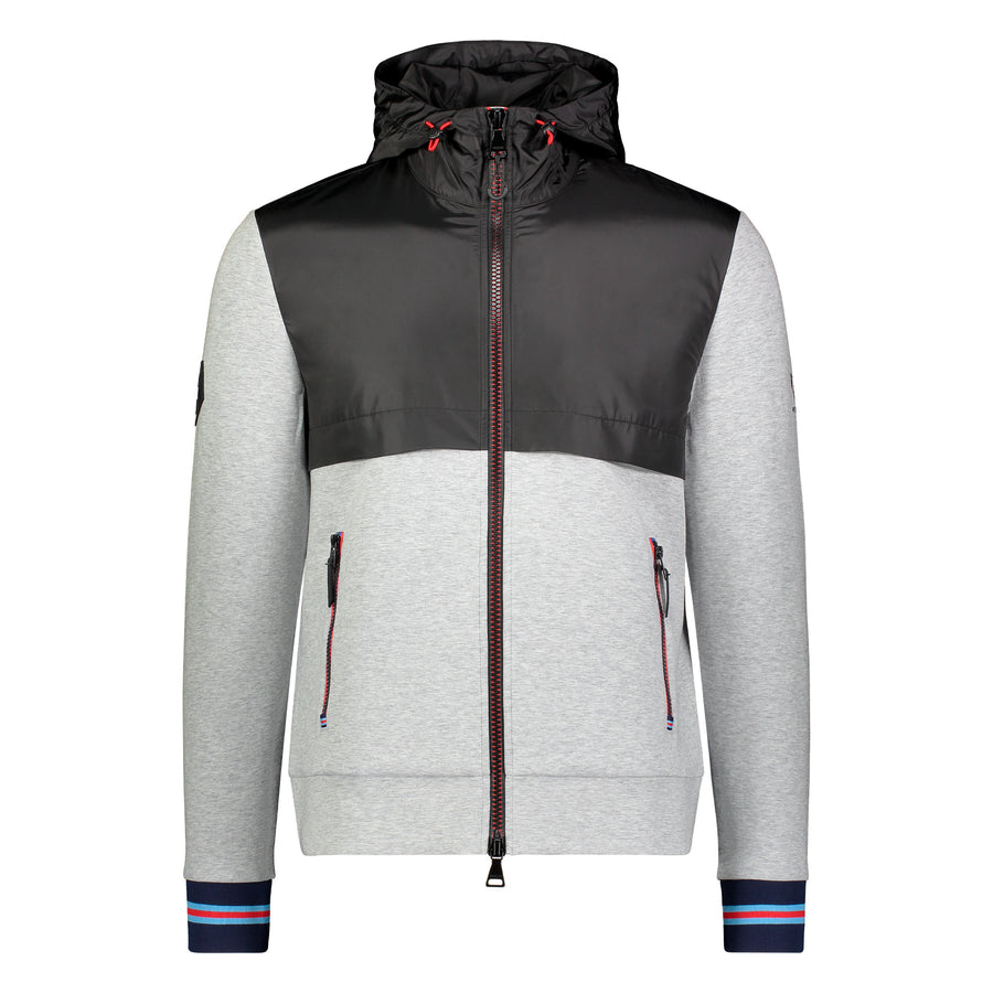 Messi Signature Stripe Hooded Jacket - Heather Grey
