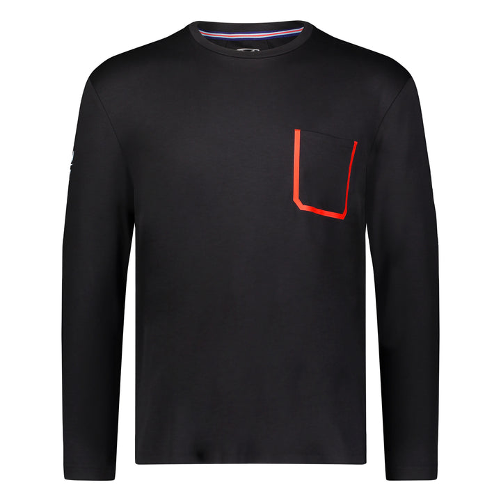 Bonded Pocket Long Sleeve Crew - Black
