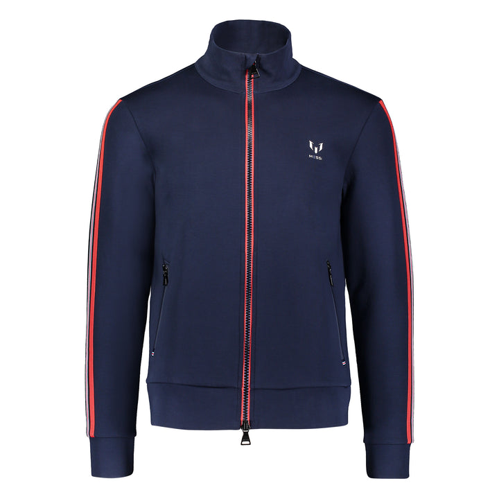 Messi Two Way Zip Knit Jacket - Navy