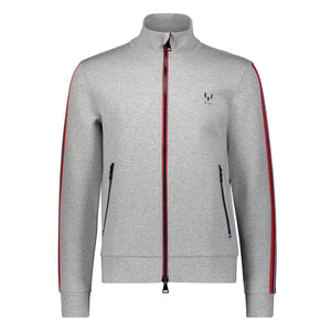 Messi Two Way Zip Knit Jacket - Heather Gray