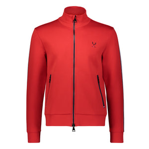 Messi Two Way Zip Knit Jacket - Logo Red
