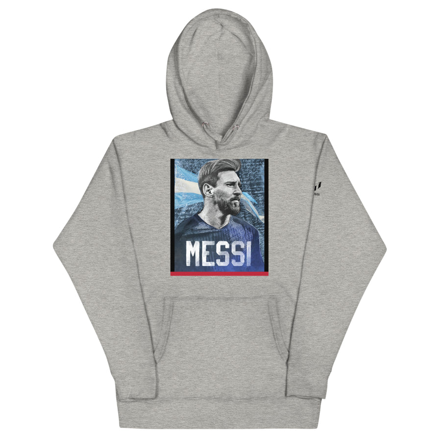 Iconic Messi Portrait Graphic Hoodie