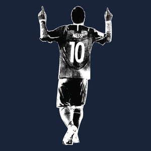 Camiseta Estampada Messi Silhouette